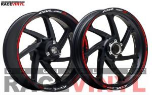 Descripcion  Honda CBR 250R adhesivo pegatina vinilo llanta rueda moto sticker vinyl rim stripe