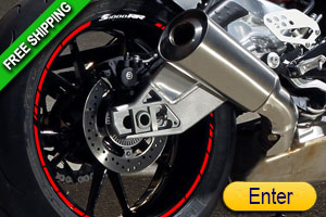 BMW S1000-RR RIM STICKERS