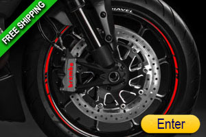 DUCATI DIAVEL RIM STICKERS