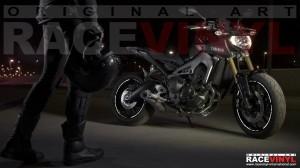 Principal Wallpaper Yamaha MT 09 900 adhesivo pegatina vinilo llanta rueda moto sticker vinyl rim stripe