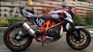 Racevinyl KTM Duke Jan Geurts 03 vinilo pegatina adhesivo llanta tuning moto rueda bandas stripe rim vinyl sticker stripes bike wallpaper