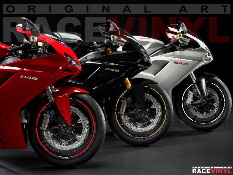 Ducati EVO Streetfighter Racevinyl Europe Vinyl - Bridgestone custom stickers motorcycle