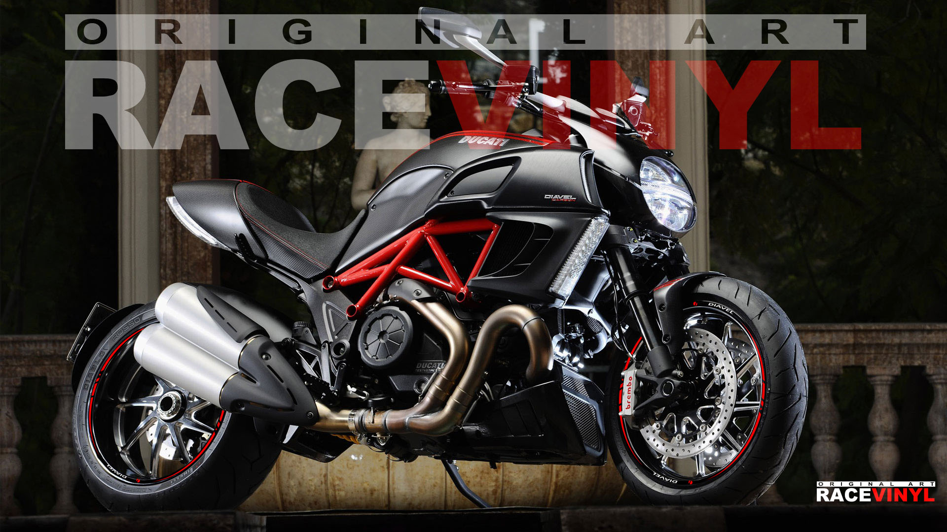 Ducati Diavel Racevinyl Europe Vinyl Sticker Kits For Rims - Bridgestone custom stickers motorcycle