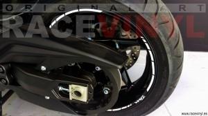 Yamaha TMAX 530 02 kit pegatina vinilo llanta rueda moto adhesivo cinta tira banda stripe sticker vinyl rim wheel tuning bike