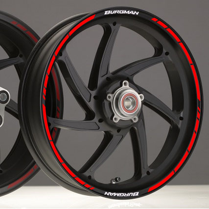 Suzuki Burgman New Rim Stripes Kit Available