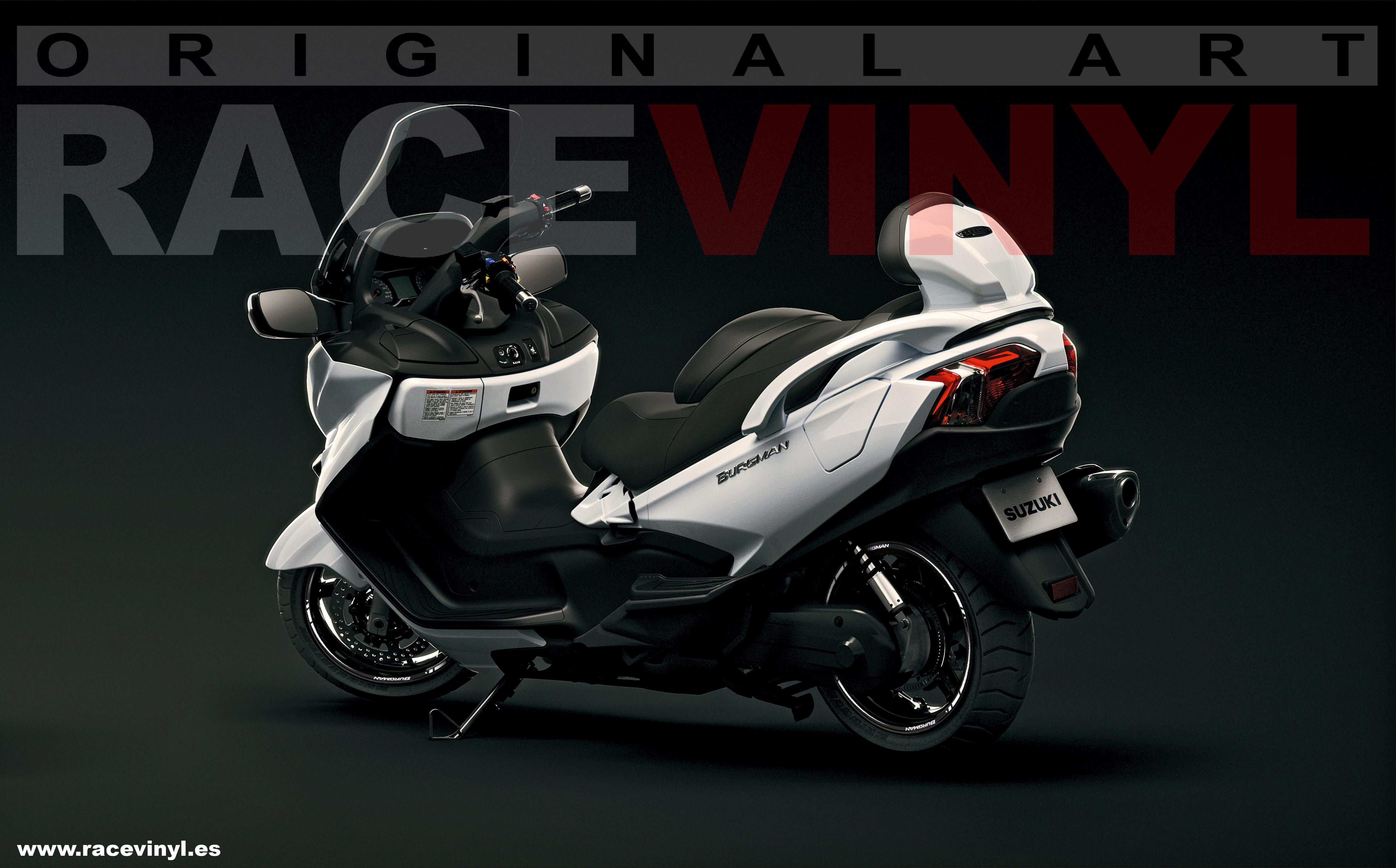 Suzuki Burgman New Rim Stripes Kit Available Racevinyl Europe - Vinyl stripes for motorcycles