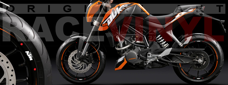 KTM Super Duke (Rim Sticker Kit from Racevinyl)