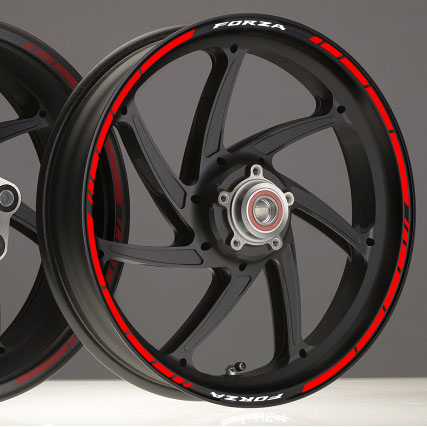 Rim Stickers kit in vinyl for motorcycle rims with Honda Forza