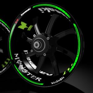 Kit Pro vinyl rim stickers kit for Kawasaki H2R Ninja