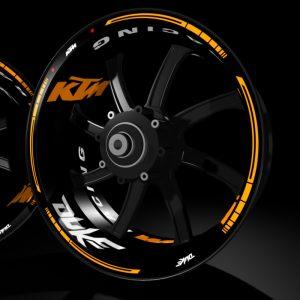 models kit pro KTM Duke pegatina llanta rueda moto vinilo adhesivo tuning rim sticker kit stripes wheel motorcycle vinyl racevinyl