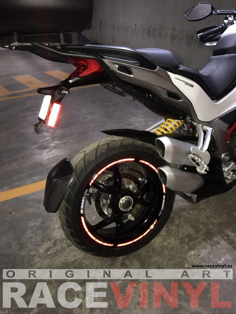 Ducati Multistrada de Mauro Guzzi kit de pegatinas y adhesivos para llantas de moto speed con logotipo rim sticker stripes vinyl 02
