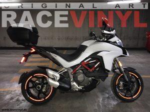 Ducati Multistrada de Mauro Guzzi kit de pegatinas y adhesivos para llantas de moto speed con logotipo rim sticker stripes vinyl 03