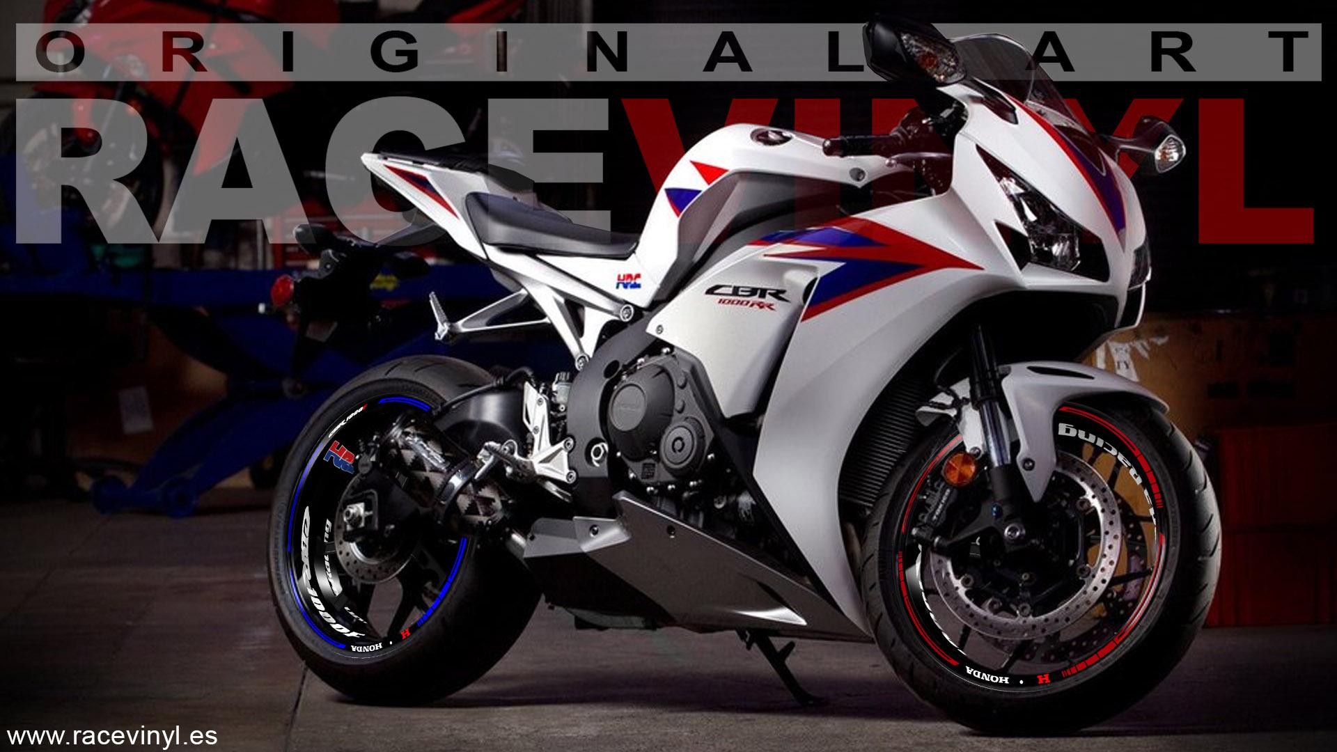 Honda CBR 1000RR pegatinas para llantas KIt PRO HRC Racing bicolor