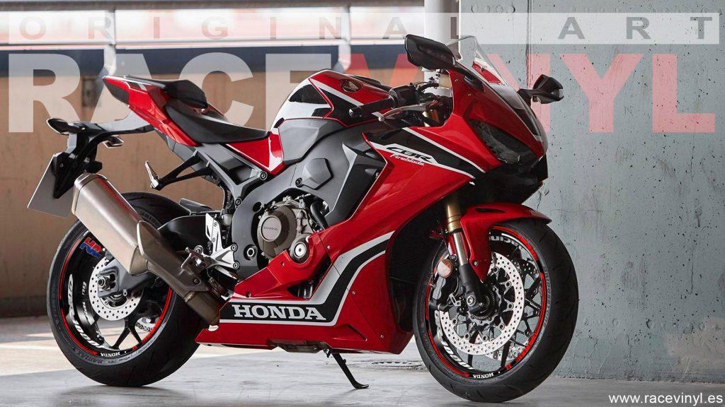 Honda CBR 1000RR rim stickers vinyl KIt PRO HRC Racing red