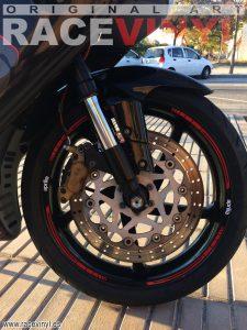 Aprilia rs 125 Blade red rim sticker vinyl stripes motorcycle