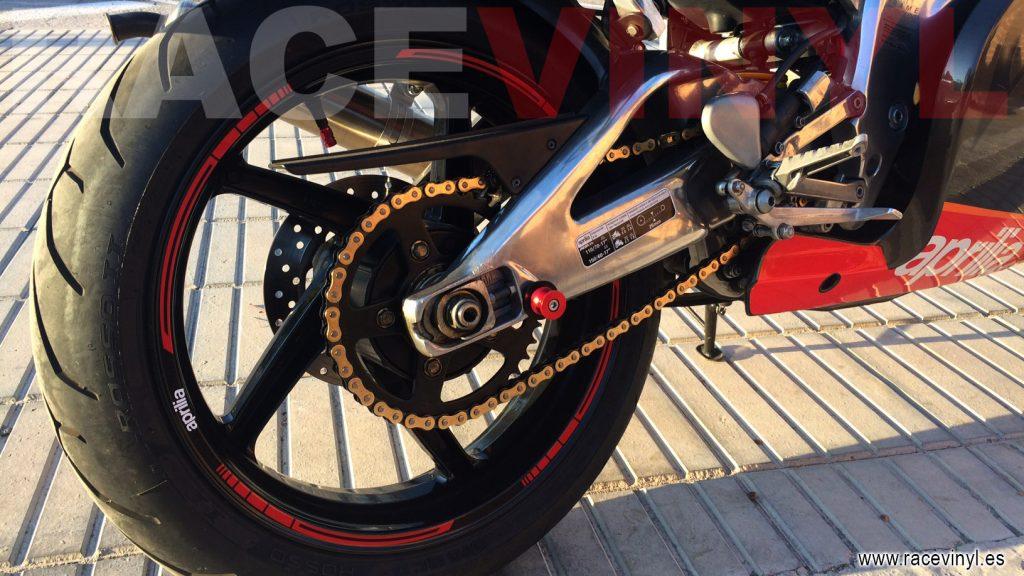 Aprilia rs 125 Blade red rim sticker vinyl stripe