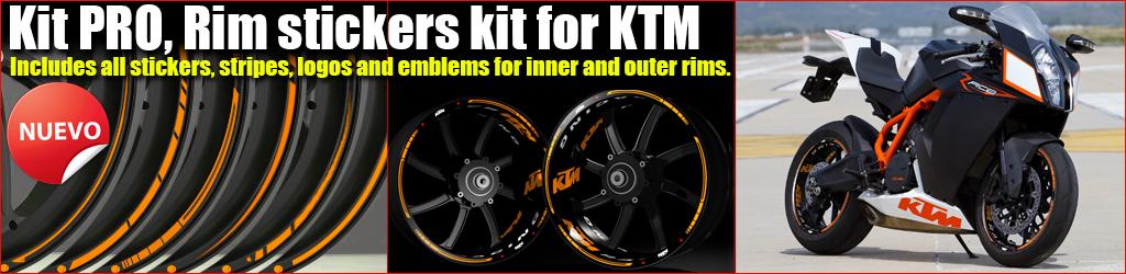 Kit Pro KTM rim stickers kit
