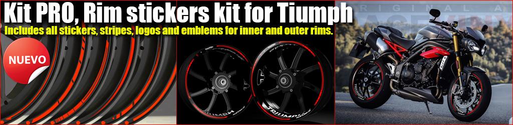 Kit Pro TRIUMPH rim stickers kit