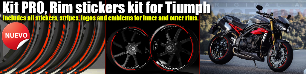 Kit Pro TRIUMPH rim stickers kit
