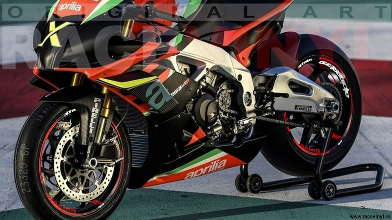 Aprilia Racing Alpinestar Kit Pro adhesivos para llantas de moto