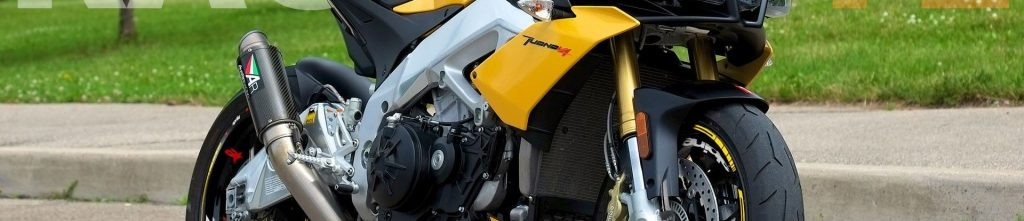 Aprilia Tuono V4 amarilla con el Kit PRO de adhesivos Racevinyl
