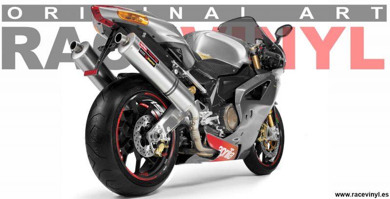 Aprilia RSV Accesorios para llantas de moto vinilos adhesivos kit pro Racevinyl