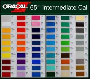 Catálogo de colores serie 651