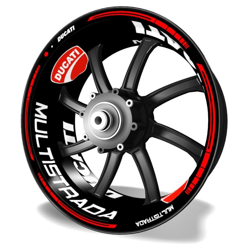 Adhesivos para llantas Kit PRO Ducati Multistrada vinilos para motos