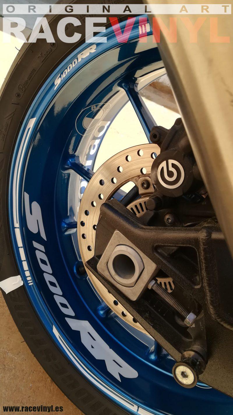 BMW S1000RR Kit PRO White llanta Blue pegatina rueda moto vinilo adhesivo vinyl sticker rim stripe tuning02