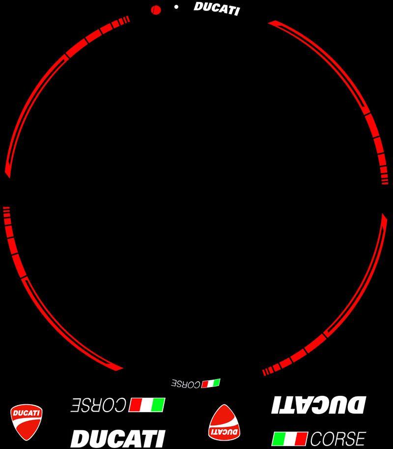 Contenido KIT Pro Ducati Corse adhesivos y vinilos