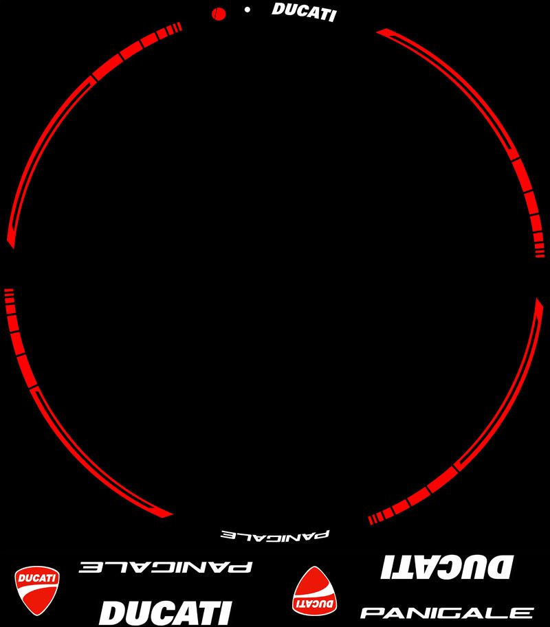 Contenido Kit PRO Ducati Panigale adhesivos