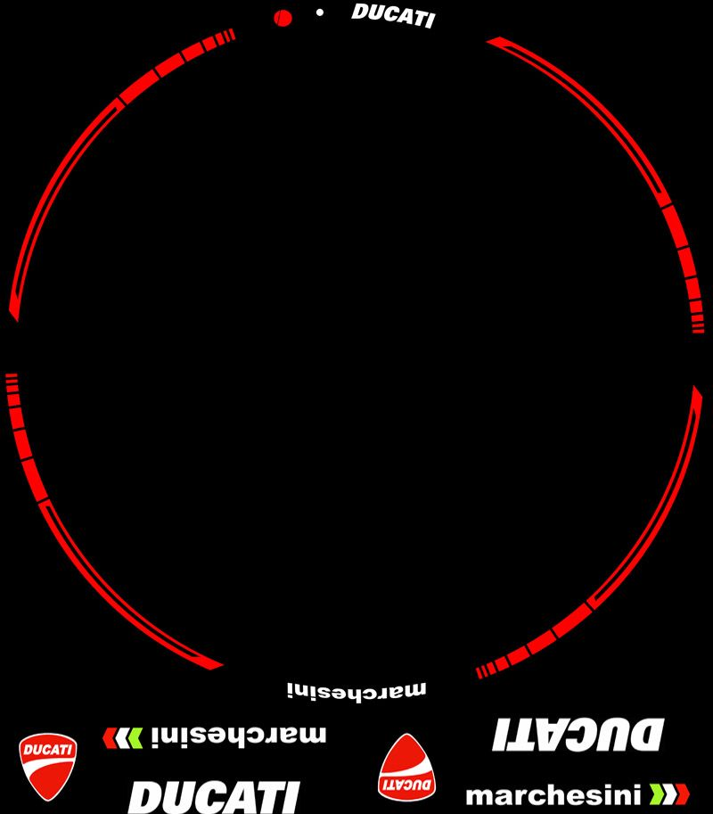 Contenido Kit pro Ducati Marchesini adhesivos y vinilos llantas