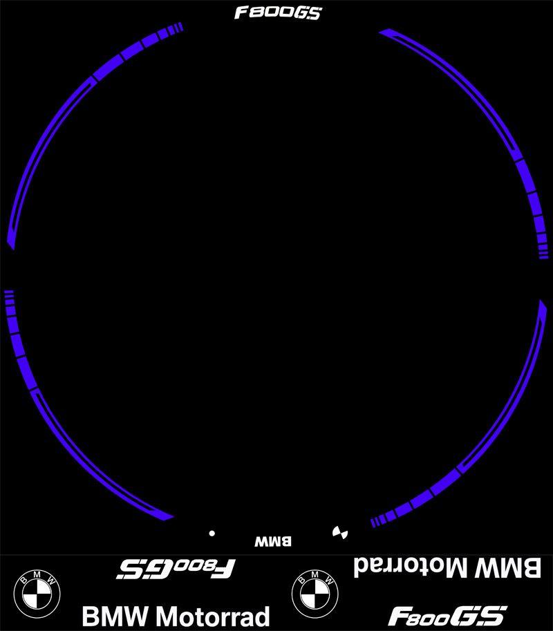 Contenido de los vinilos del Kit PRO para la BMW F800GS