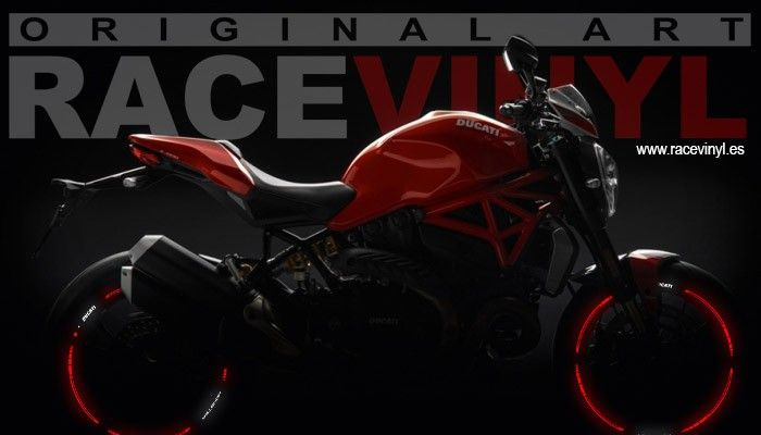 Vinilos Reflectants para la Ducati Monster de Racevinyl