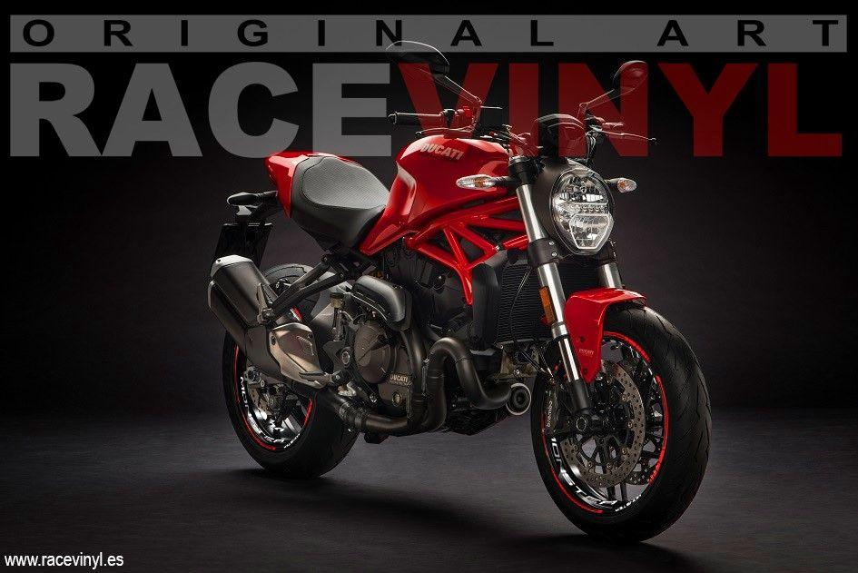 Vinilos Marchesini para la Ducati Monster de Racevinyl