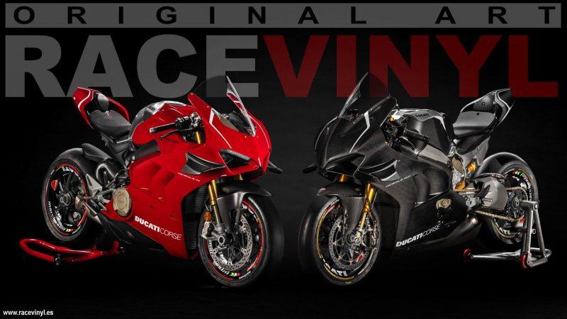 Ducati-Panigale-1299-pegatinas-para-llantas-moto-kit-pro-racevinyl-roja-negra