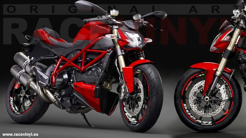 Ducati Streetfighter con el kit PRO Racevinyl