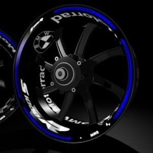 Rim sticker kit pro with inner and outer decals for bmw s1000r