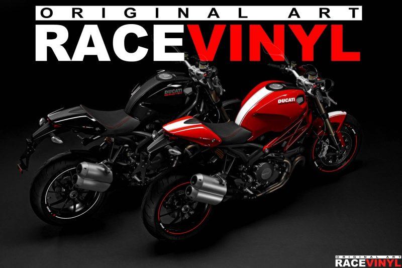 Ducati Monster tuning accesorios vinilos y pegatinas para llantas racevinyl