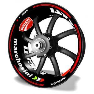 Pegatinas y vinilos adhesivos para llantas Kit PRO Ducati Marchesini