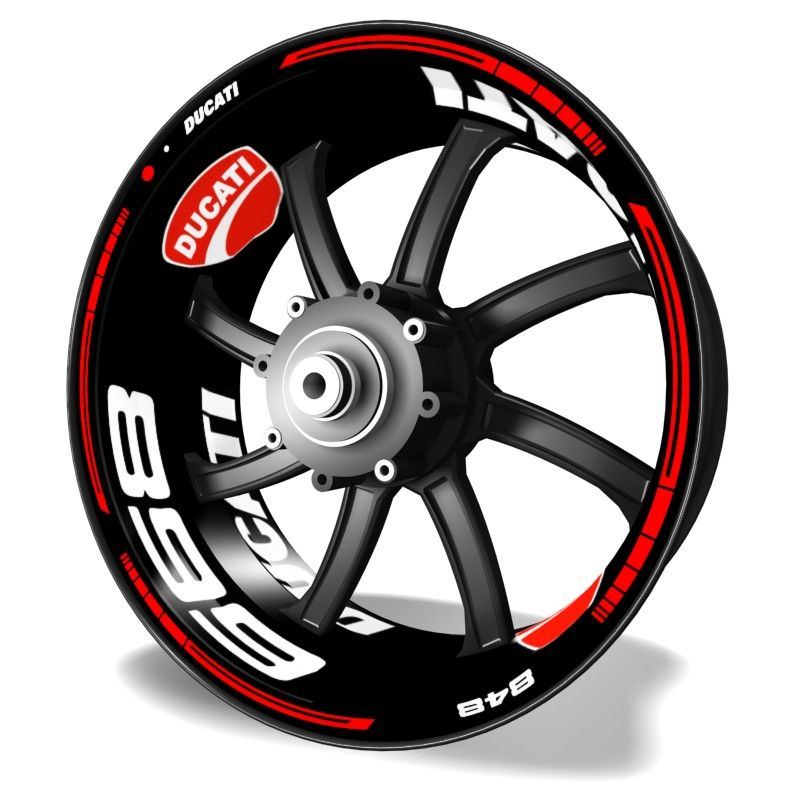 Vinilos para llantas Kit PRO Ducati 899 adhesivos para motos