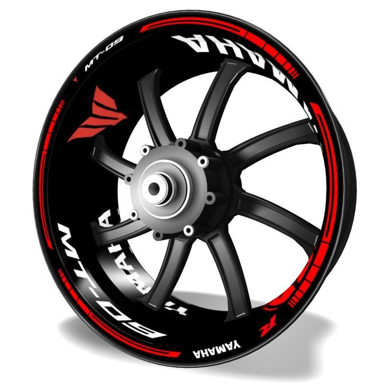 Adhesivos para motos Kit PRO pegatinas de llantas Yamaha MT09