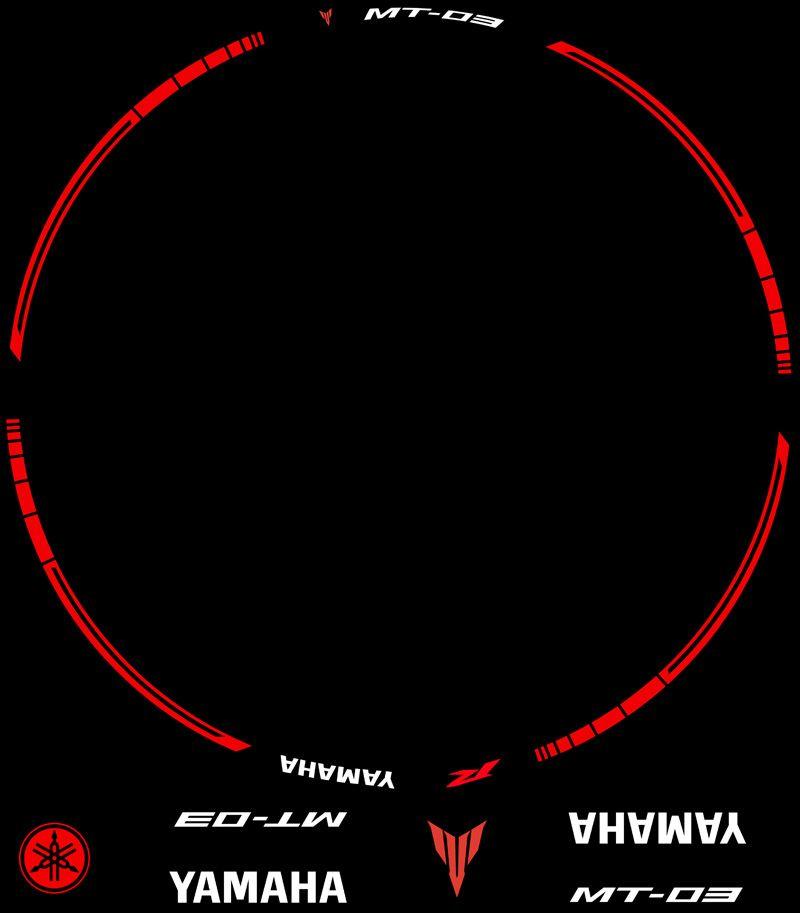 Contenido Vinilos Kit PRO Yamaha MT03