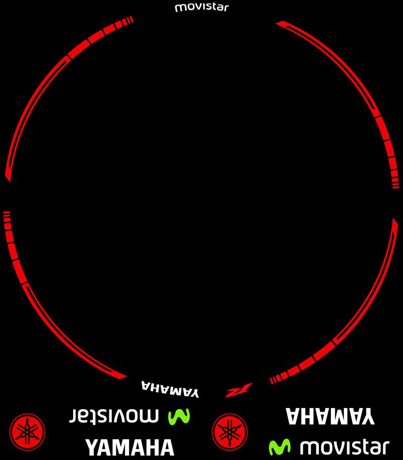 Contenido Vinilos Kit PRO Yamaha Movistar