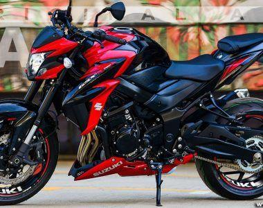 Suzuki GSXS750 Personalizada con los adhesivos de Racevinyl