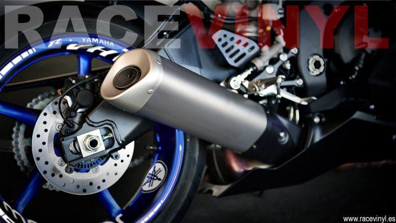 Yamaha YZF R6 Pegatinas para llantas KIT PRO trasera