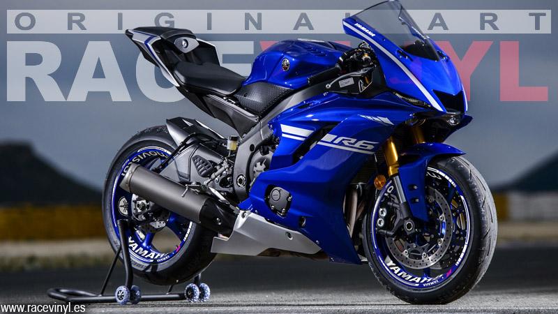 Yamaha YZF R6 Pegatinas para llantas KIT PRO