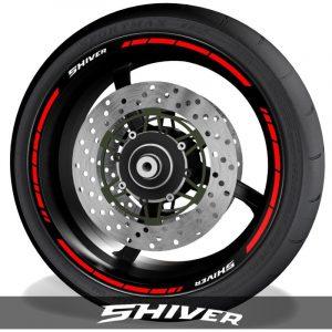 Vinilos del perfil de llantas de moto pegatinas con el logo Aprilia Shiver speed
