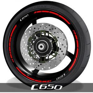Pegatinas y vinilos para perfil de llantas de moto con logo BMW C650