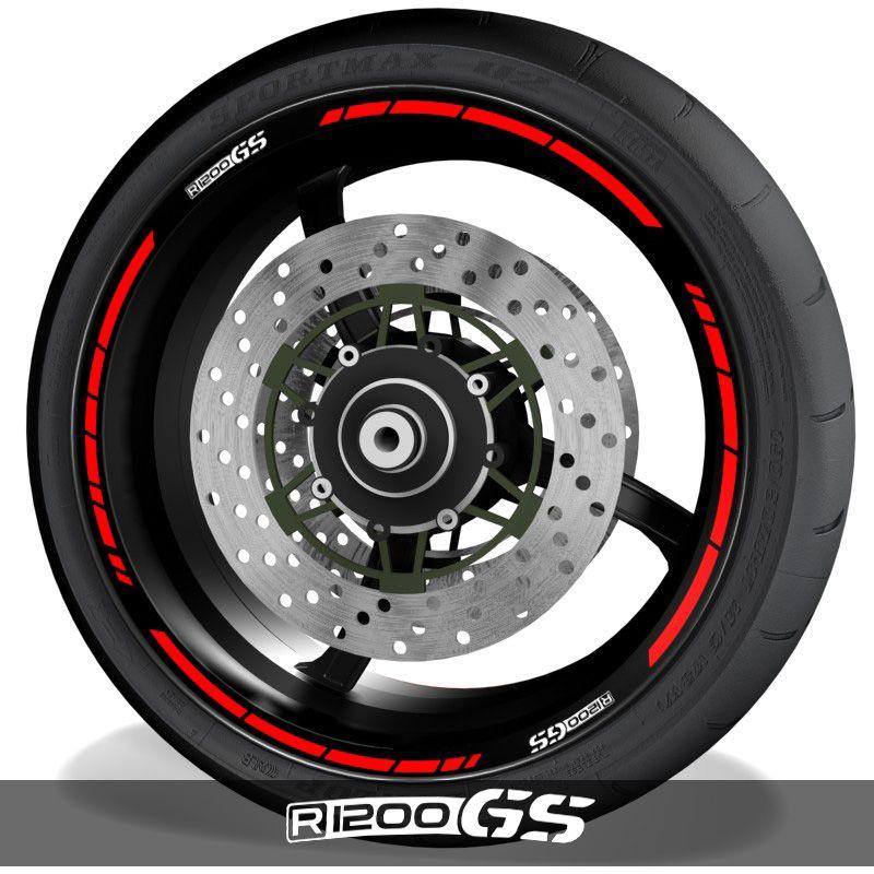 Adhesivos y vinilos para perfil de llantas de moto con logo BMW R1200GS speed